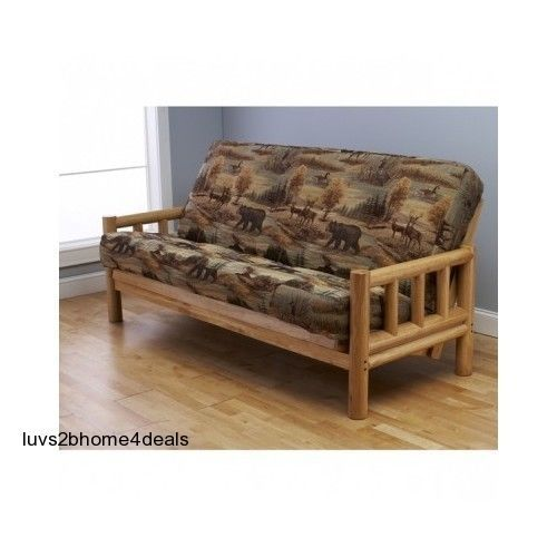 Futon Set Mattress Bed Dorm Office Rustic Sofa Wood Furniture Couch Seat Cushion Home & Garden Furniture Futons, Frames & Covers Great Valentines Gift for your loved one ! This Futon Set with Mattress has a rustic hardwood frame with an outdoor feel. It's rustic charm will add to any decor. The Futon Set with Mattress full-size frame converts to sofa, lounging or in a bed position. Made of a hardwood construction for sofa height seating. Plantation grown wood Fabric Content (Mattress…