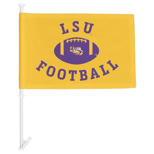 Lsu Football Louisiana State 4 Car Flag Zazzle Com Lsu Football Lsu Louisiana State