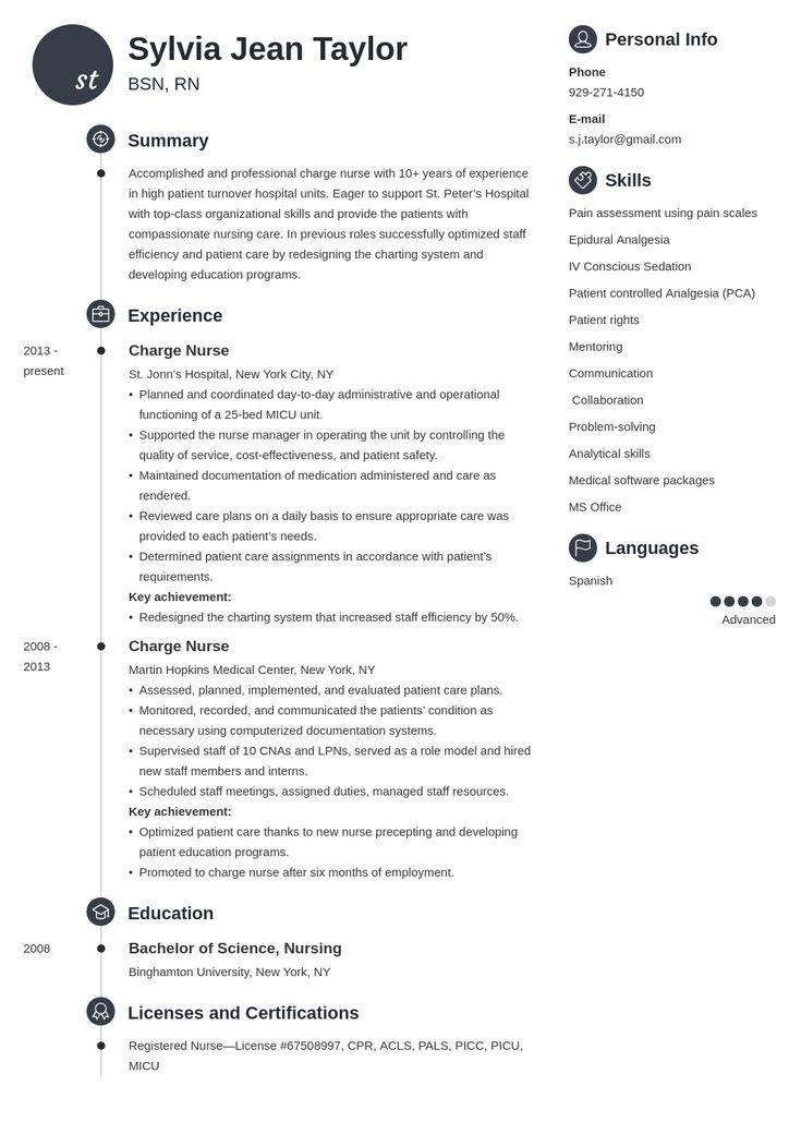35+ Nurse assistant resume responsibilities ideas in 2021