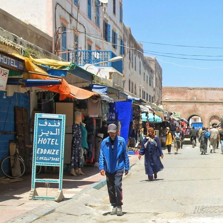Essaouira is such a beautiful Moroccan town so much blue everywhere!