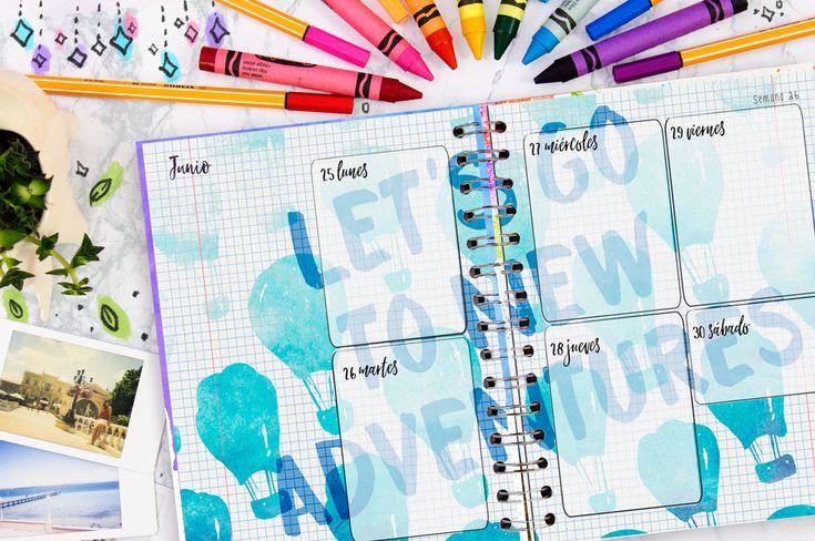 Llena tus días de creatividad con un agenda bonita tipo bullet Journal. Crafty Planner.