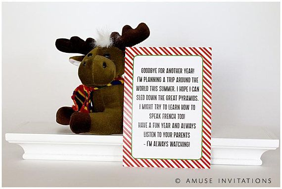 Elf Goodbye Letter Elf Goodbye Note Christmas Elf