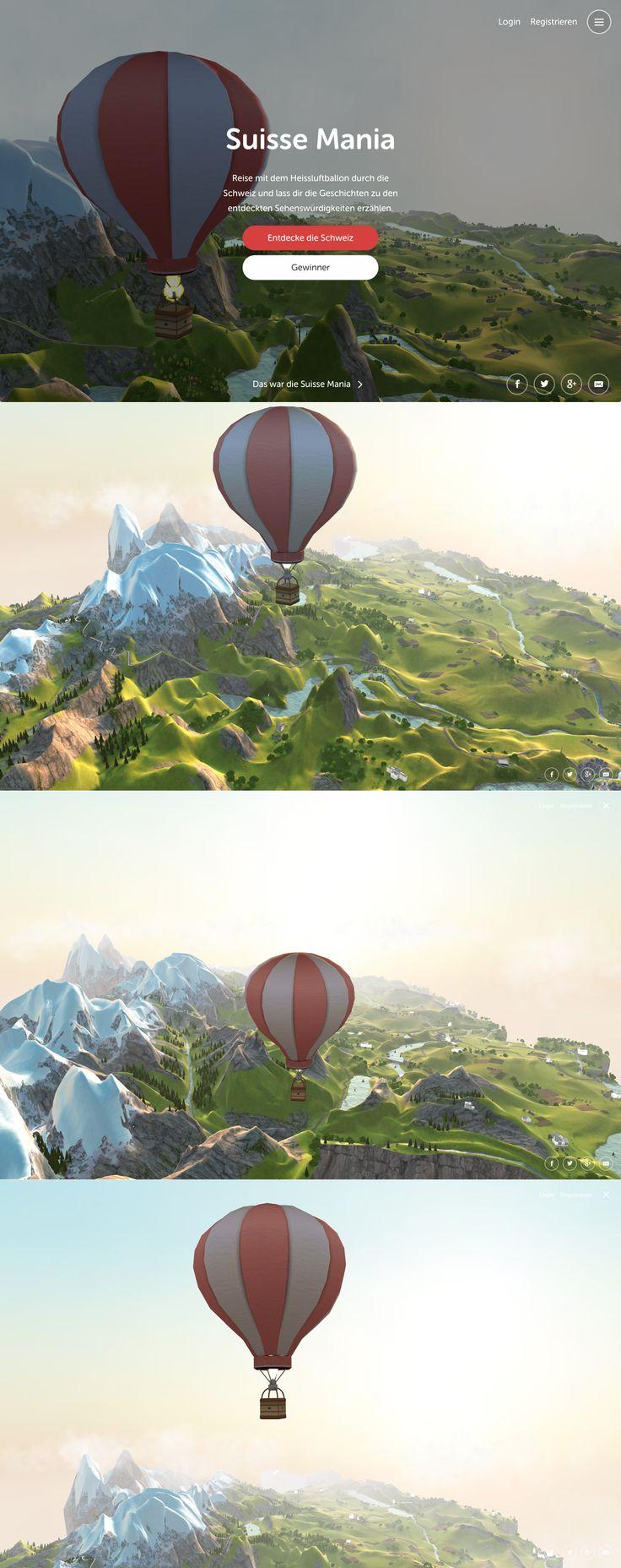 Suisse Mania - Die Schweiz in 3D  #hinderlingvolkart #design #3D #Cutting-Edge #Game #Map based #WebGL  http://suissemania.ch/