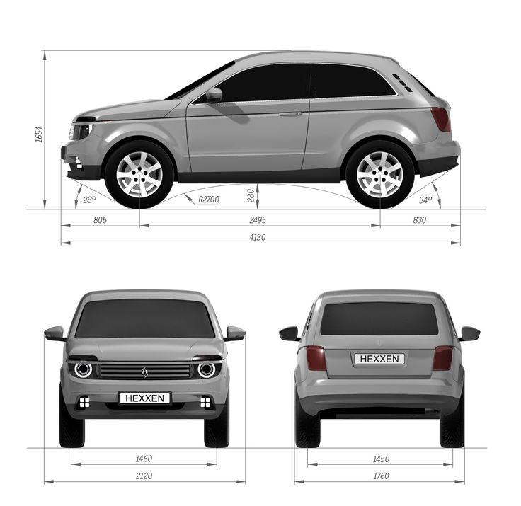 New Lada Niva - 2015 design proportions