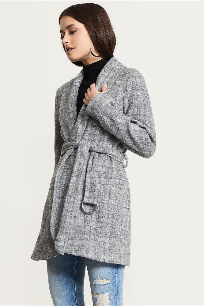 Wrap Coat With Belt.