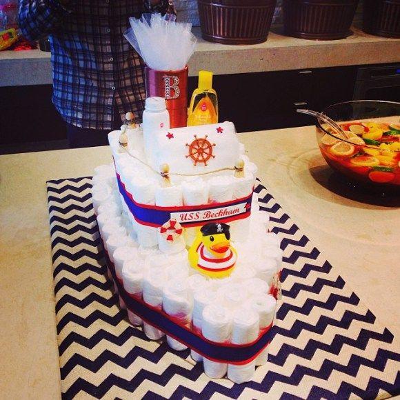 Beckham's diaper cake