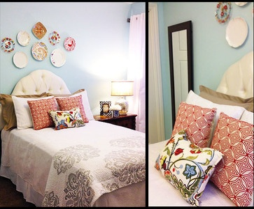 Light Blue And Red Bedroom Bedrooms Design Ideas Pictures Remodel
