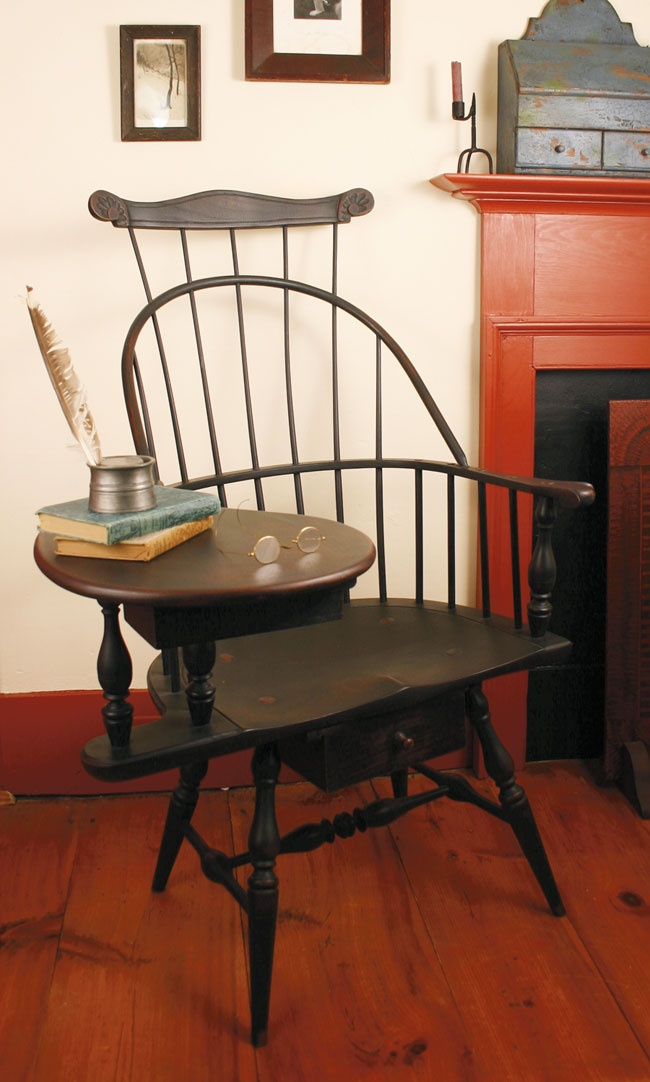 Windsor writing arm chair. Love these chairs, but I'm a southpaw.
