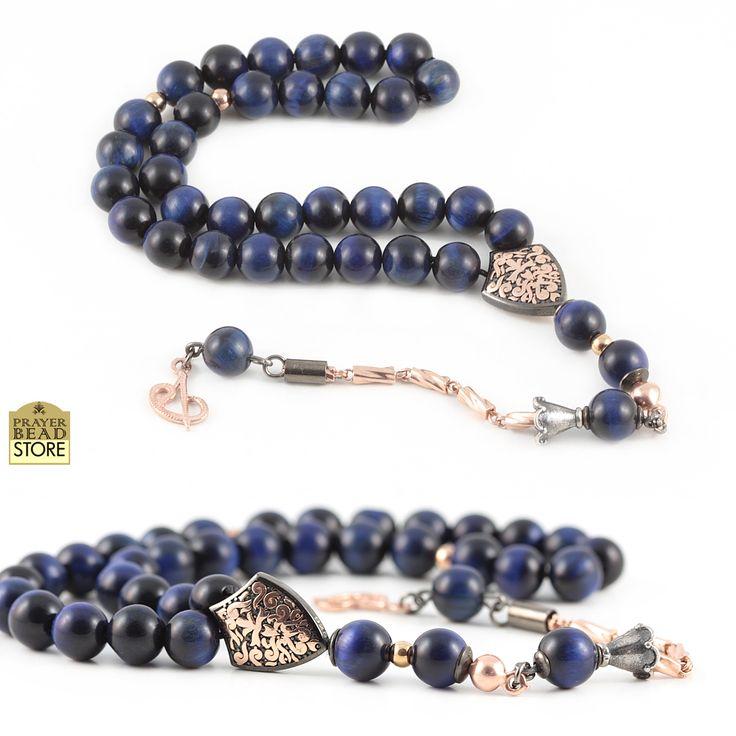 Blue Tiger's Eye Prayer Beads #misbah #prayerbeads #worrybeads