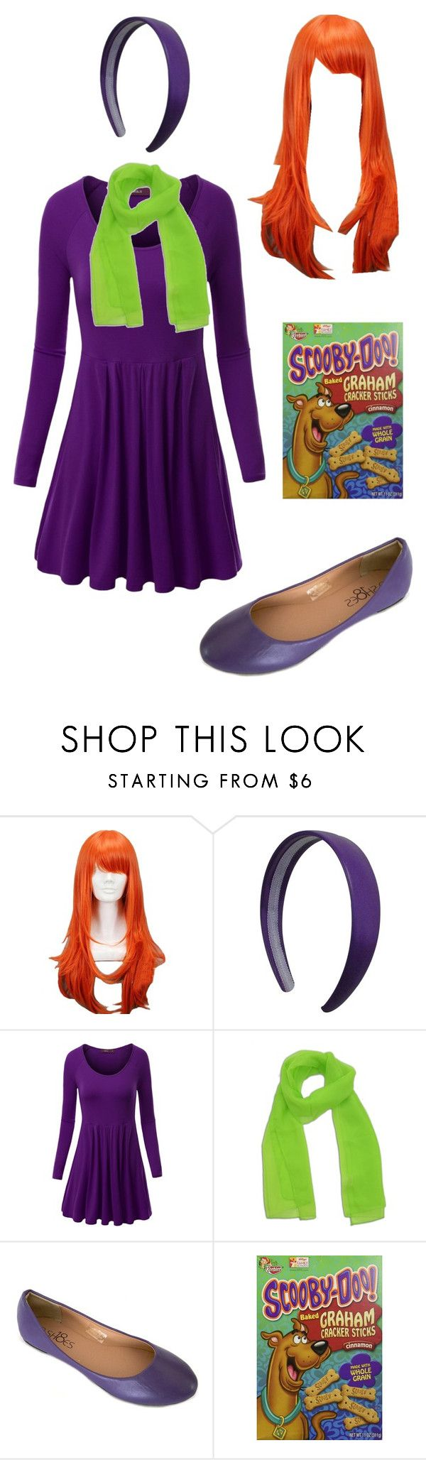 """Daphne Halloween Costume"" by itsafabulouslife ❤ liked on Polyvore featuring Doublju                                                                                                                                                                                 More"