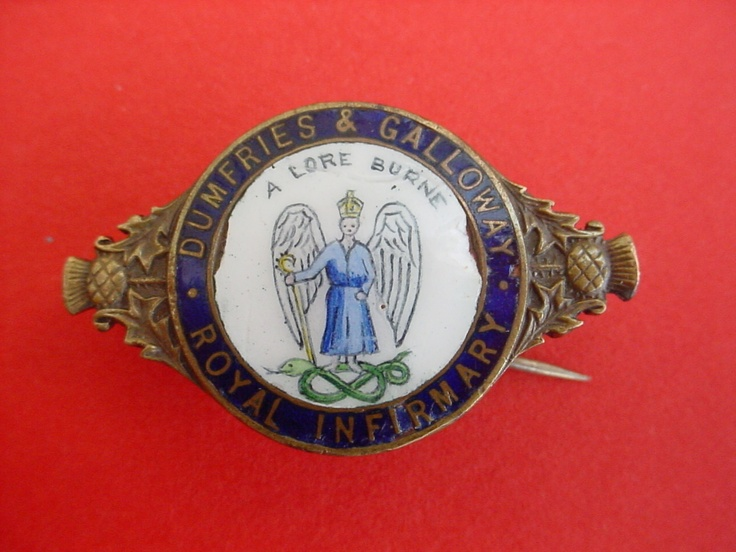 Nursing badge from the Dumfries & Galloway Royal Infirmary