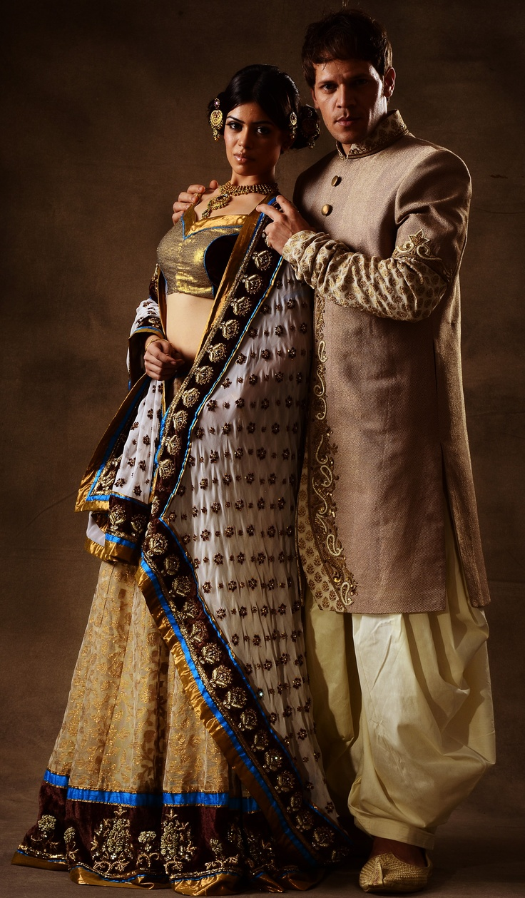 traditional indian sherwani, chaniyachole, lehenga, ghaghra choli, net lehenga, zardoshi embroidery, velvet trimmings, aari embroidery, gerogette, beadwork, sequins, diamantte, choli blouse, indowestern cuts, dhoti salwar, silk, zari, choodidar sleeves, rajwadi look, royal garments, wedding, sangeet sandhya, reception designer indian wear, DSBT DARSHI SHAH BHAVIN TRIVEDI