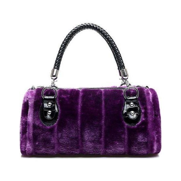 Faux Fur Handbag Clutch Purse Purple Style Me Fabulous ❤ liked on Polyvore featuring bags, handbags, clutches, white purse, purple clutches, white handbag, white clutches and faux fur purse