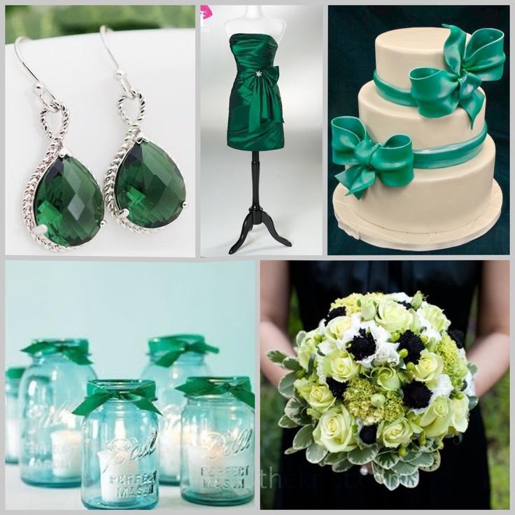 Emerald wedding, boda color verde Esmeralda