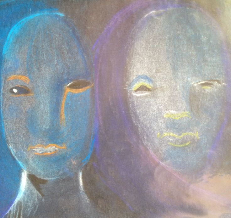 Faces . Pastel