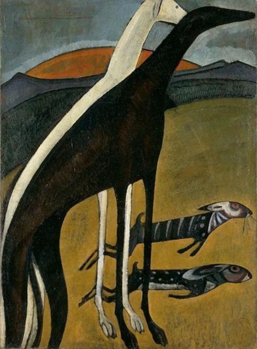Amadeo de Souza Cardoso: Os galgos (c.1911)
