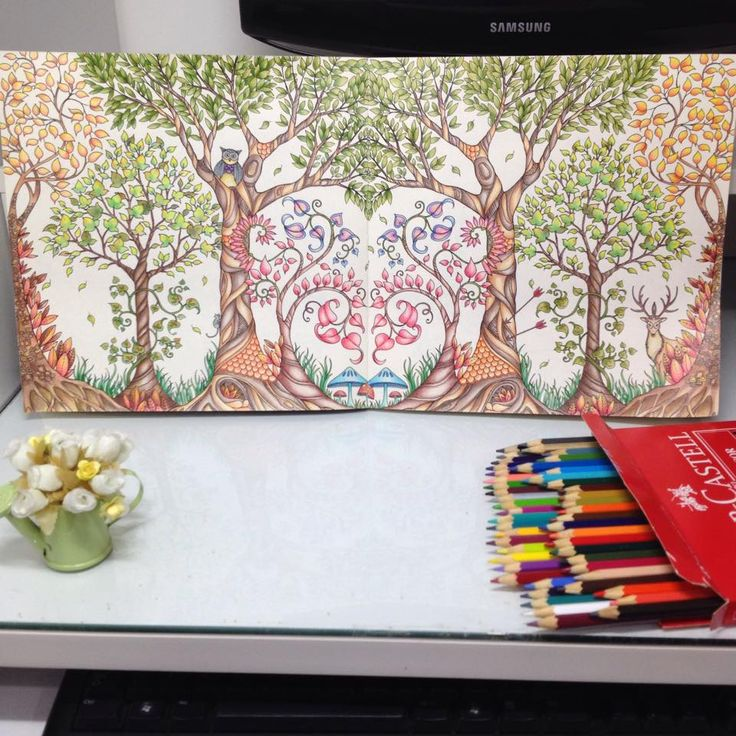 Enchanted Forest Colouring Book Completed Inspirational Coloring Pages From Secret Garden