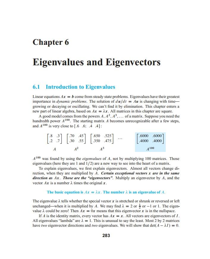 how to find eigenvectors when matrix is not diagonalizable
