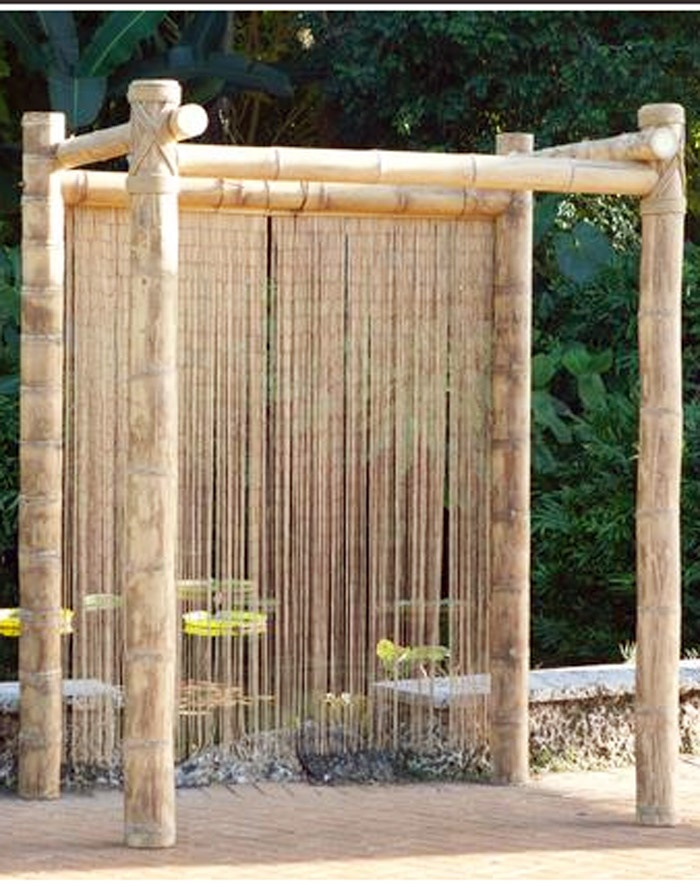 Bamboo Ceremony Structure Curtain