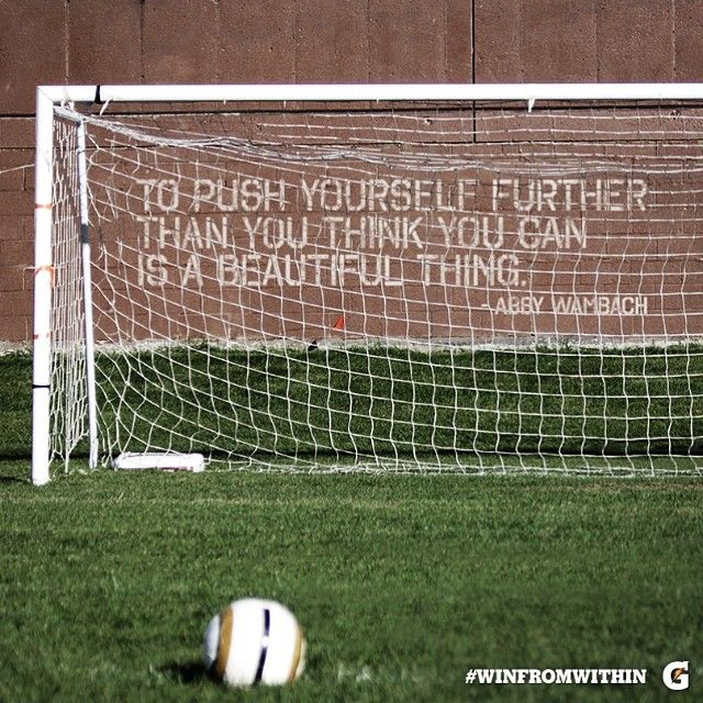 """Gatorade Instagram: """"To push yourself further than you think you can is a beautiful thing."""" - Abby Wambach (Former Gator soccer player and Olympic Gold Medalist)"""