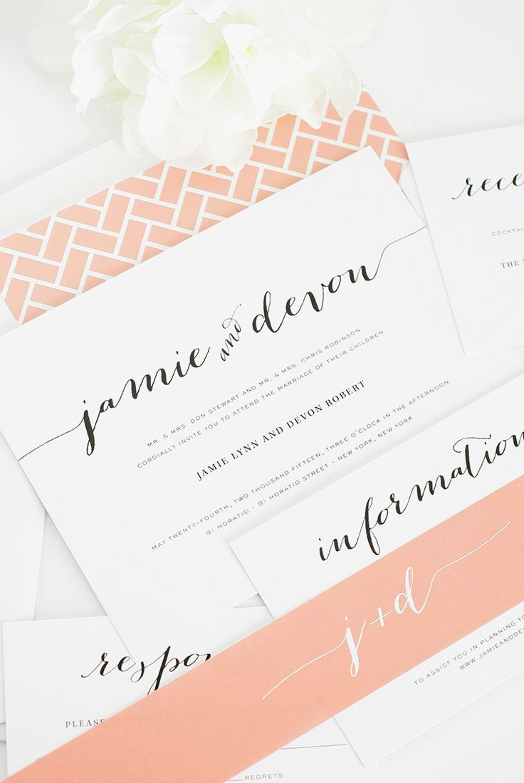 672 best Wedding Invitations & Save The Dates! images on Pinterest ...