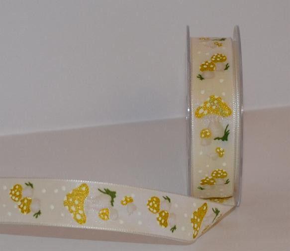 Wstążka-+Złoty+muchomor-+25mm+tasiemka+w+Anita-+Home&+Design+na+DaWanda.com