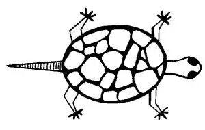 "Yaqui turtle tattoo. In honor of Gloria Anzaldua: ""I am a turtle. I carry my home on my back."""