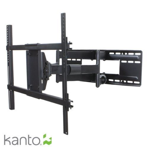 "Kanto FMX3 Full Motion Articulating TV Wall Mount for 37-Inch to 80-Inch Televisions by Kanto. $264.99. The Kanto full motion FMX3 is a very versatile articulating mount for 37"" to 80"" flat panel TVs. Pre-assembled with heavy-duty dual wishbone arms, this mount allows your TV to extend an incredible 28"" from the wall with up to 80 degree pan (pan range depends on the width of your TV) as well as 15 degrees of vertical tilt at your fingertips. With this kind of extensi..."