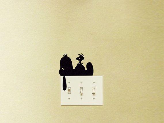 Arte della parete Snoopy tessuto Wall Decal di Mirshkastudio