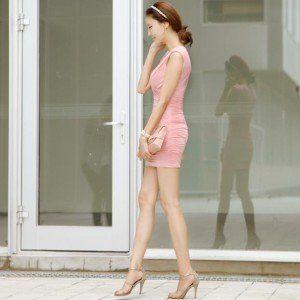 SEXY DRESS - 4836PINK   Baju Korea, Baju Import, Grosir Baju Korea, Grosir Baju Import