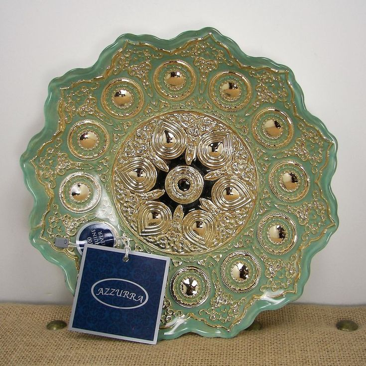 Azzurra Handmade Decorated Glass