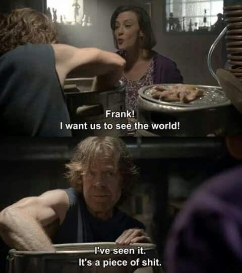 Shameless. Frank and Sheila.