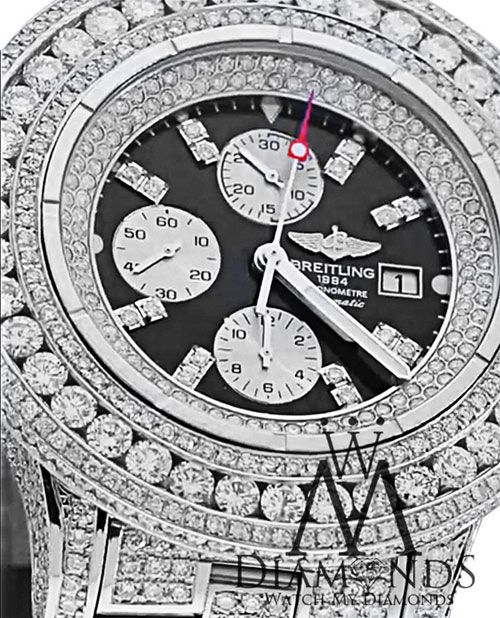 Breitling Super Avenger Black A13370 30ct Diamond Authentic Watch - http://menswomenswatches.com/breitling-super-avenger-black-a13370-30ct-diamond-authentic-watch/ COMMENT.