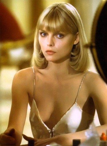 Tres décadas con Michelle Pfeiffer  'El precio del poder', 1983  En El precio del poder, era la cocainómana mujer de Al Pacino. Gran película y ella, deslumbrante.