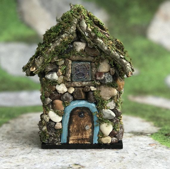 Little Forest Cottage Fairy House Rock and Stone Fairy House