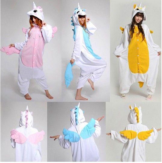 Details about Unicorn Kigurumi Pajamas Animal Costume Anime Cosplay Adult…
