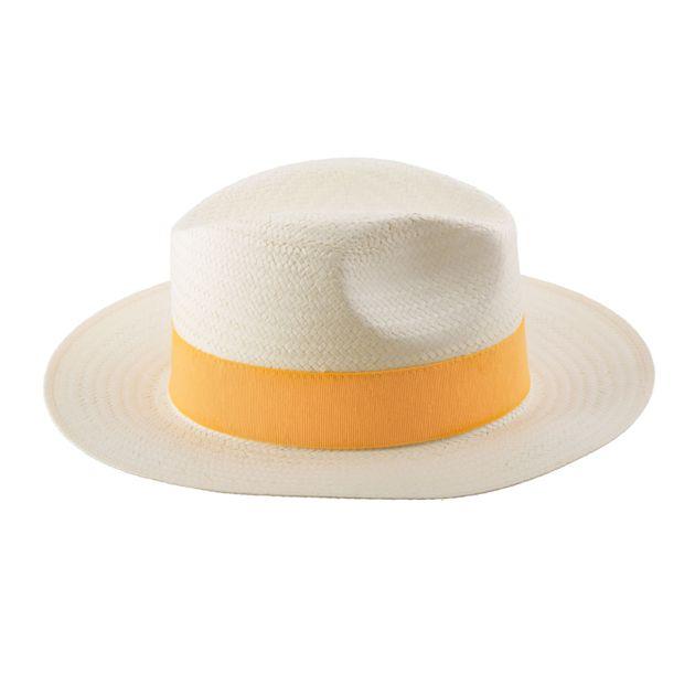 chapeau-de-plage-en-paille-naturel-écru-bordure-jaune-mode-accessoire-été-tendance-panama-femme-homme