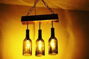 Оригинальные светильники из различных бутылок своими руками