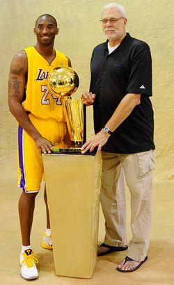 Kobe and Phil Jackson