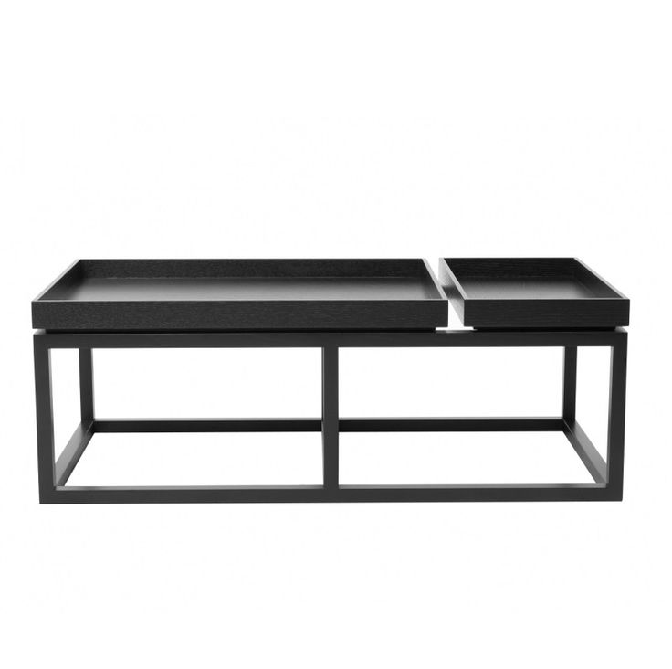 TRAY Sofa Table Black Stolik - NORR11 - DECORTIS.COM