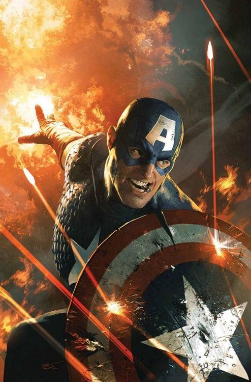 Ultimate Comics Captain America: Michael Komarck, Comic Ultimate, Marvel Comic, Comic Books, Captain America, Ultimate Comic, Comic Art, Super Heroes, Ultimate Captain