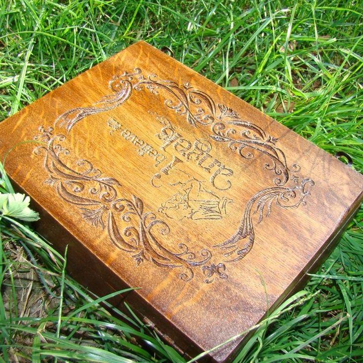 """KADORIS.RO: """"I BELIEVE IN ANGELS"""" - Casetă gravată (lemn natur)"""