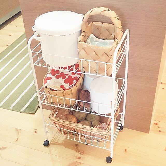 キッチン 米びつ ガラスジャーのまとめページ | RoomClip (ルームクリップ) キッチンと米びつと目指すは見せられる収納のインテリア実例