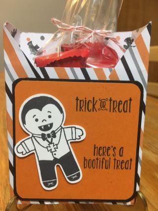 Halloween Treat Box; Spooky Fun Stamp Set; Cookie Cutter Halloween Stamp Set