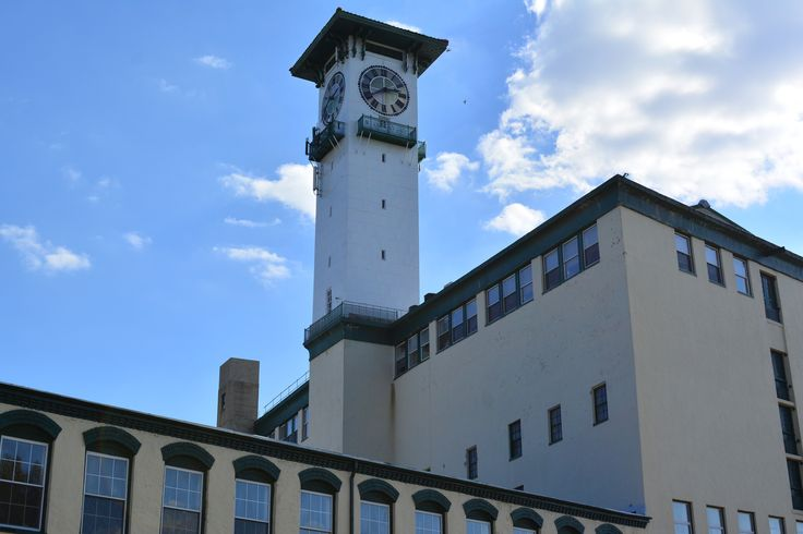 Grundy mills clock tower built in 1911 is 168 feet 51 m