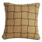 Burlap Throw Pillow Cover -Basket Weave Pillows -Decorative - Gift