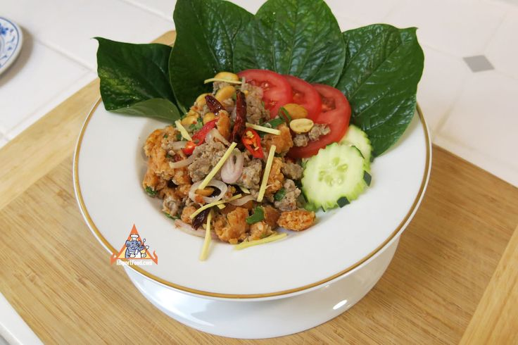We created this recipe in March 2016 after a great deal of research and practice, one of our best Thai recipes to date. The crispy seasoned rice mixed with the other ingredients creates a blast of texture and flavor that's truly unique and magnificent. Basically crispy seasoned rice added to larb. We recommend you serve with fresh betel leaves, but that's not required. We recommend using our all-natural vegetarian red curry paste but you can use other brands. Start by making crispy rice…