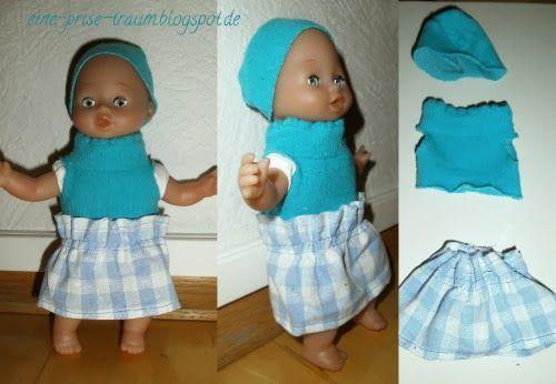 eine Prise Traum: Kids - schnelle puppenkleider aus alten Kinderstrumpfhosen und Stoffresten zaubern. - Keine Nähkenntnisse erforderlich.