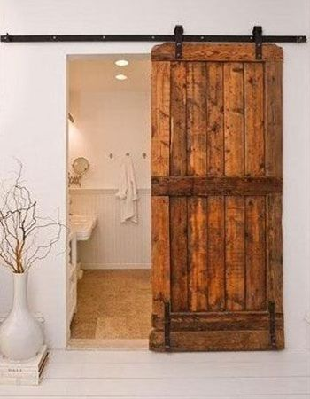 Sliding Rustic Interior Door Idea