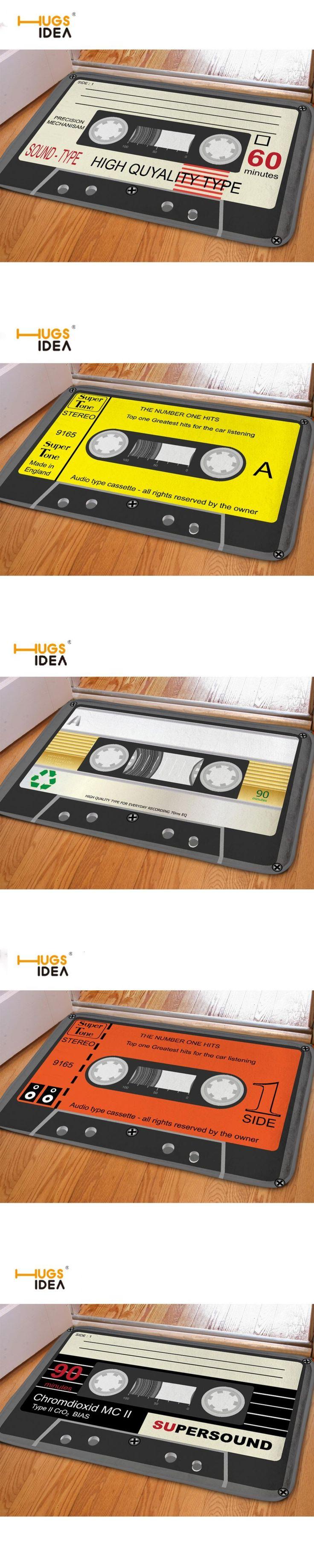 HUGSIDEA Funny Entrance Doormat 3D Magnetic Tape Home Floor Carpet For Bedroom Living Room Kitchen Flannel Rug Home Decor Tapis